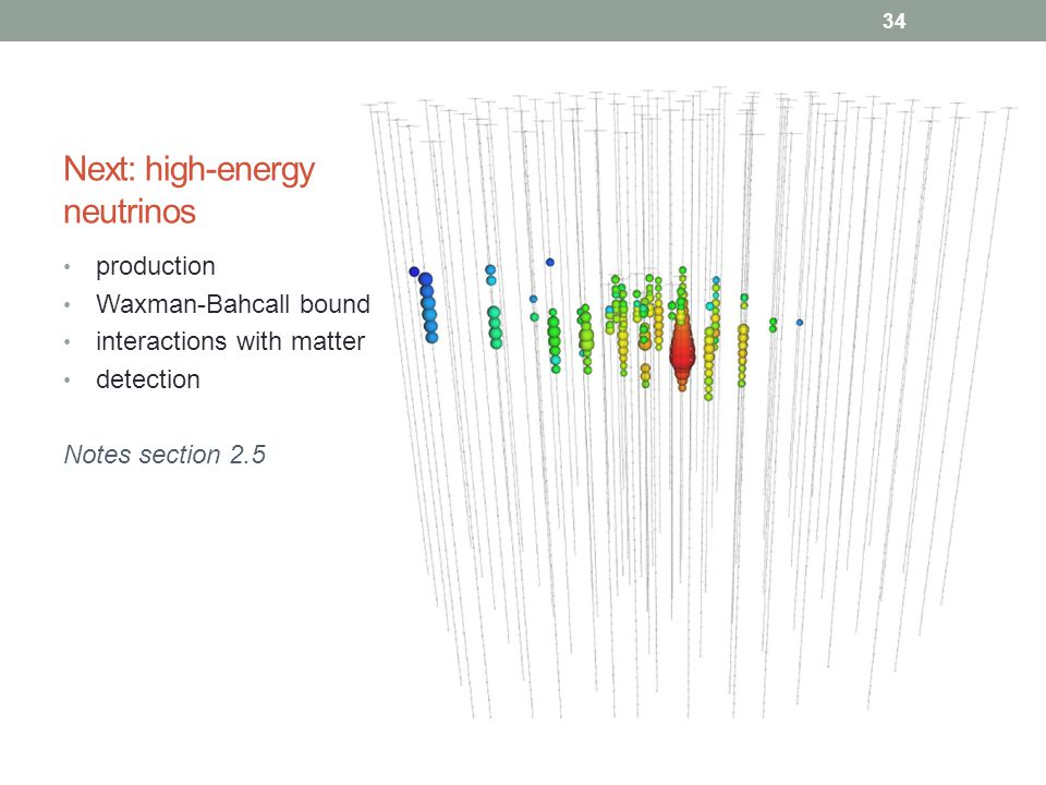 Next: high-energy neutrinos