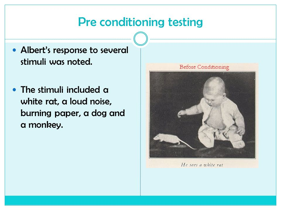 Pre conditioning testing