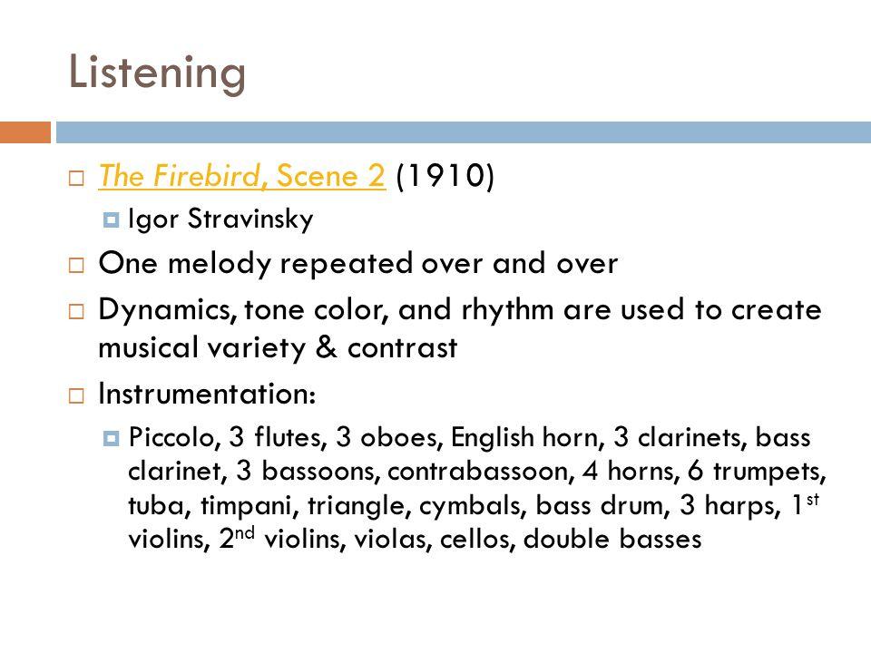 Listening The Firebird, Scene 2 (1910)