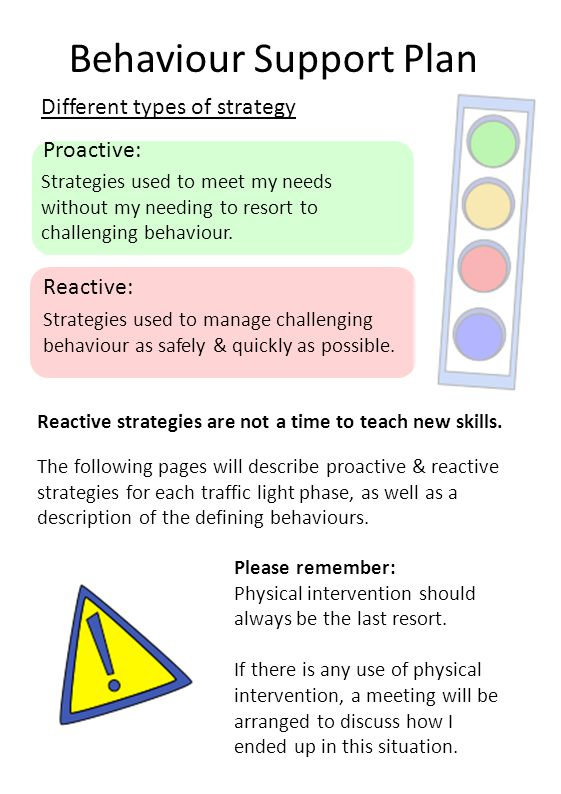 Behaviour Support Plan