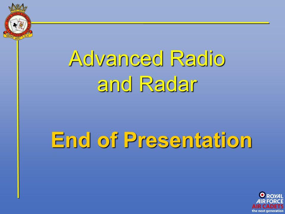 Advanced Radio and Radar