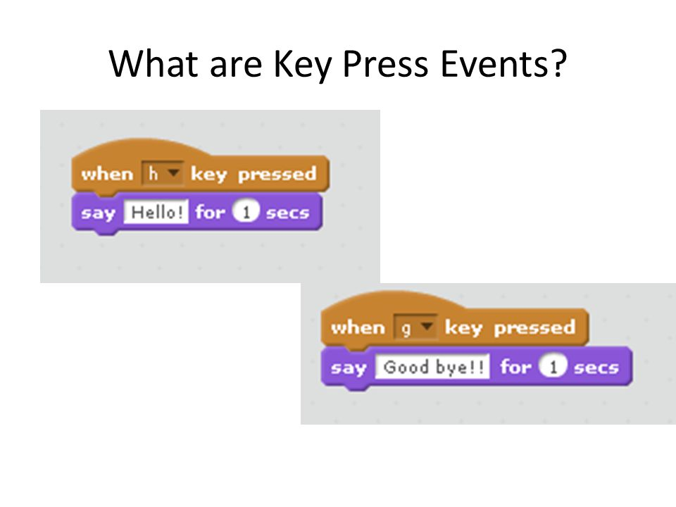What are Key Press Events
