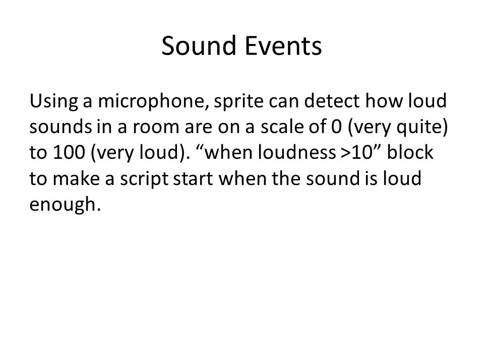 Sound Events