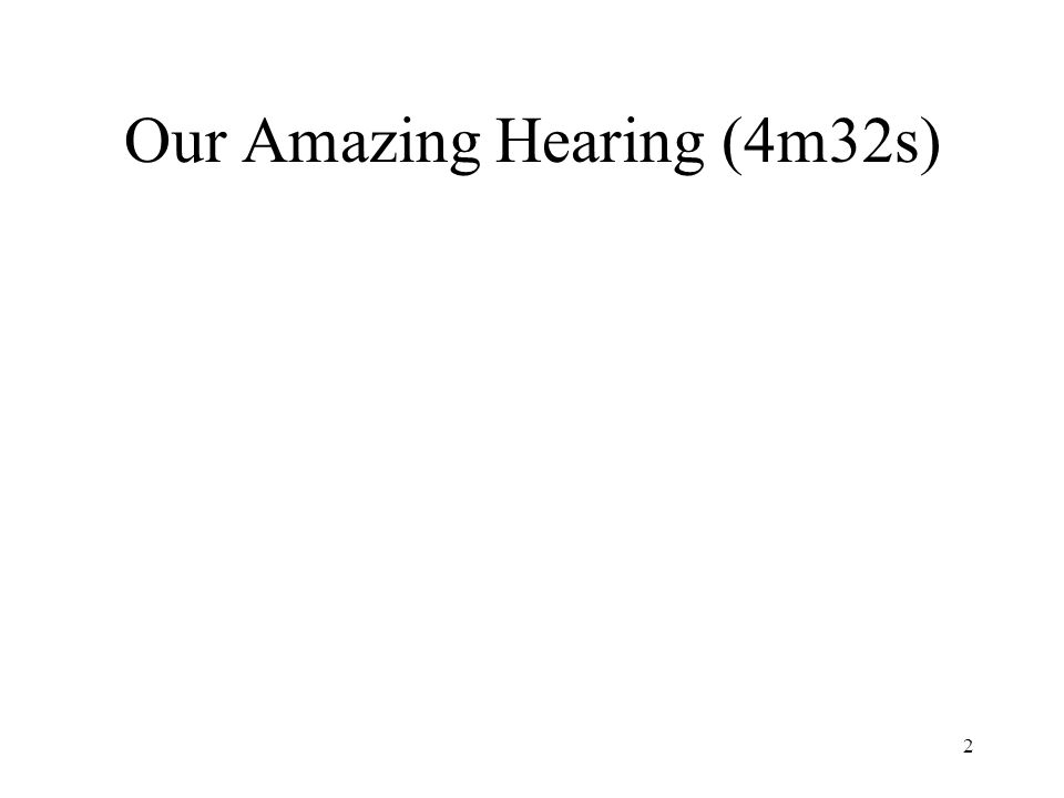 Our Amazing Hearing (4m32s)