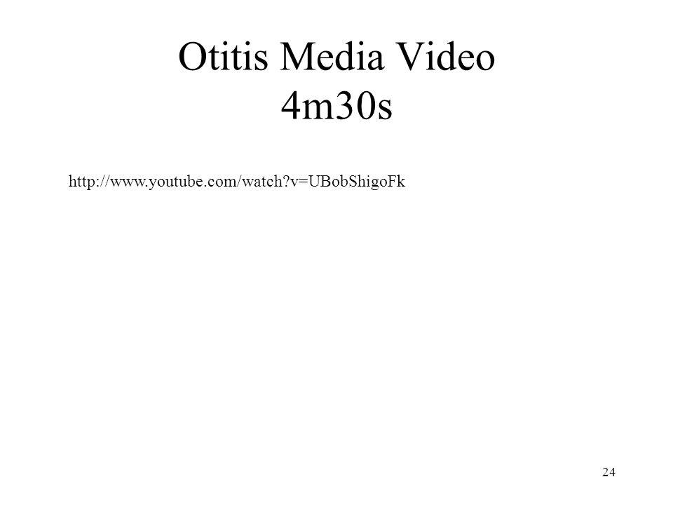 Otitis Media Video 4m30s http://www.youtube.com/watch v=UBobShigoFk