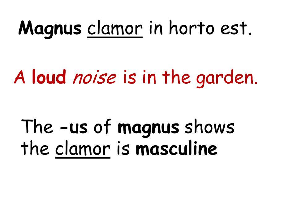 Magnus clamor in horto est.