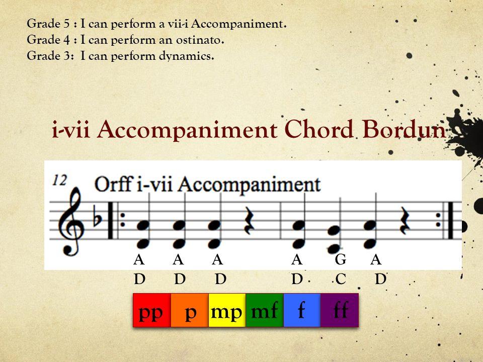 i-vii Accompaniment Chord Bordun