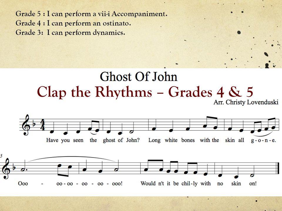 Clap the Rhythms – Grades 4 & 5