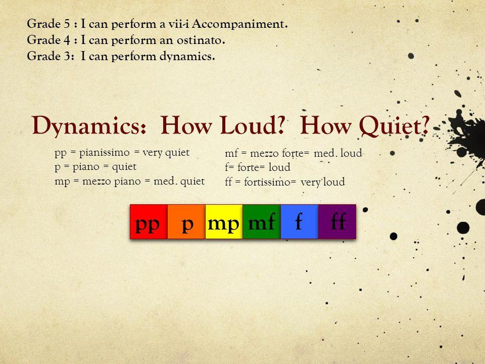 Dynamics: How Loud How Quiet