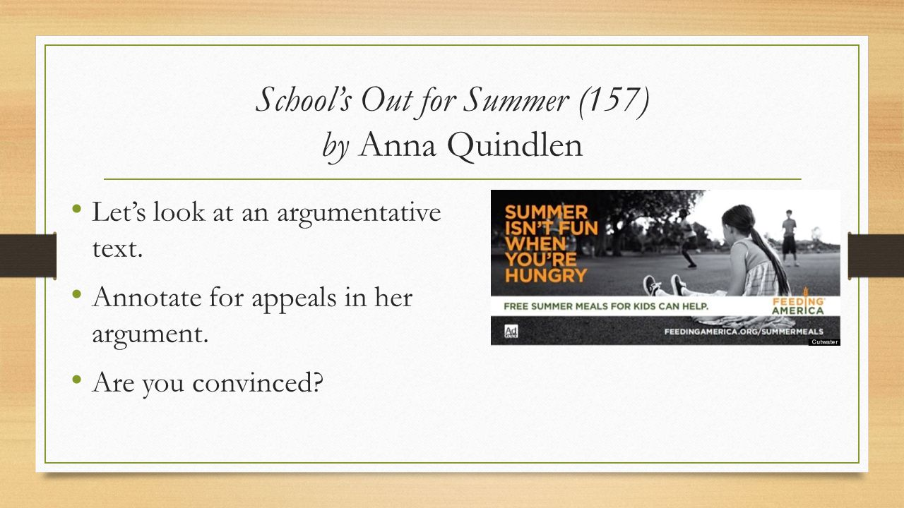 School's Out for Summer (157) by Anna Quindlen