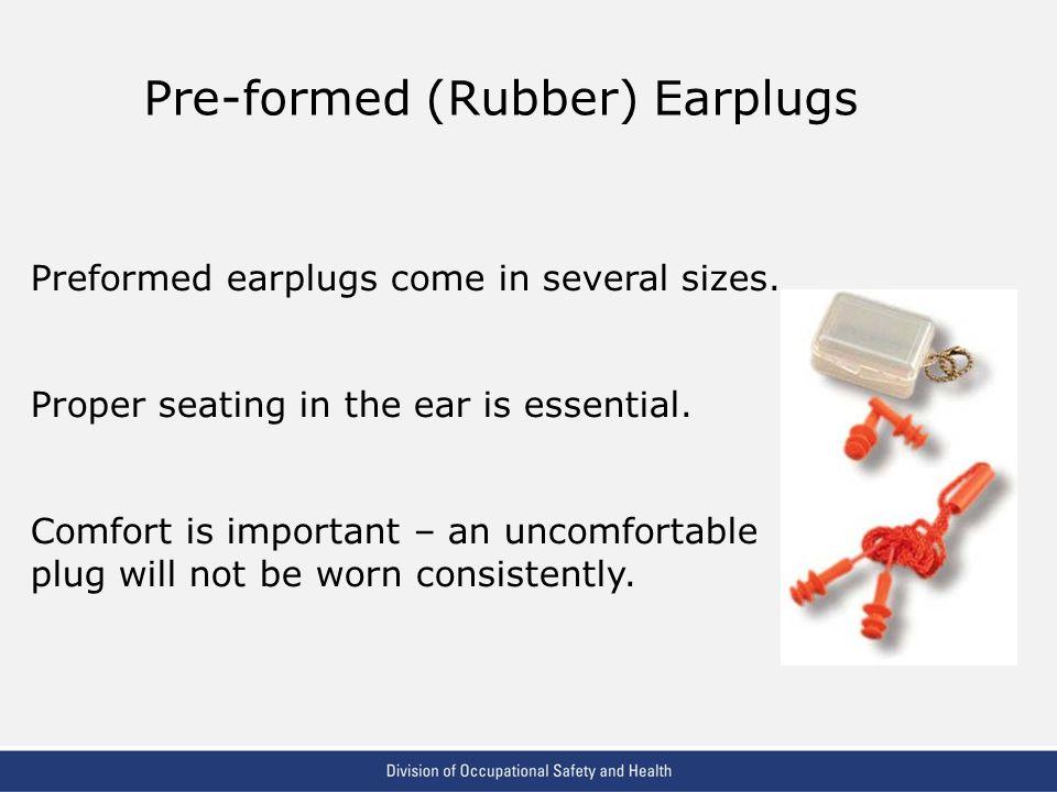 Pre-formed (Rubber) Earplugs