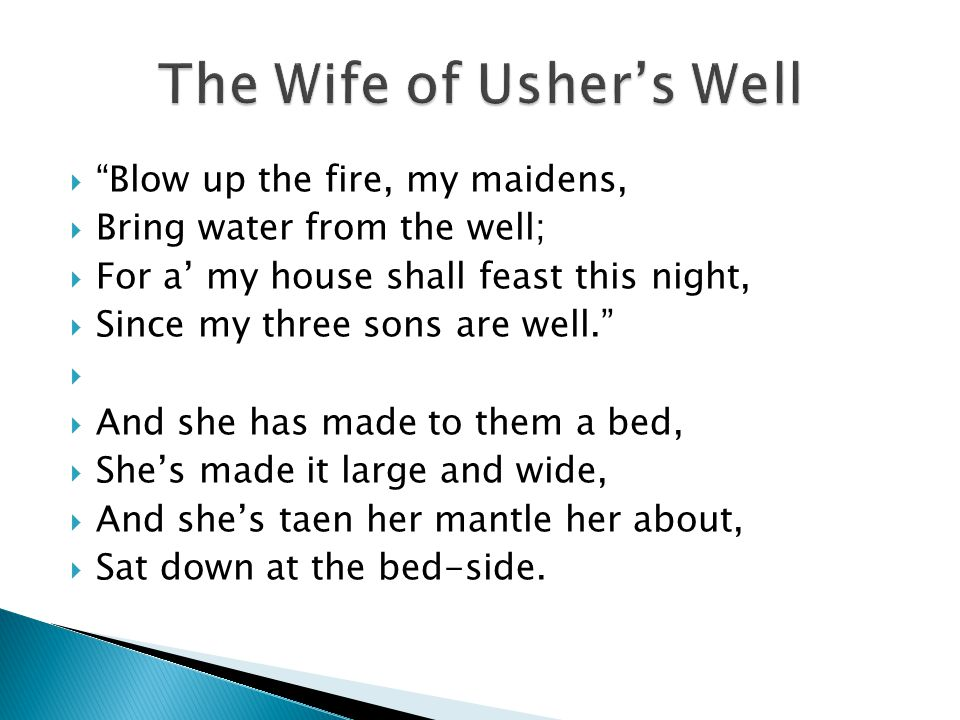 The Wife of Usher's Well