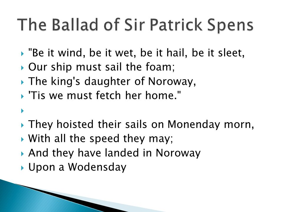 The Ballad of Sir Patrick Spens