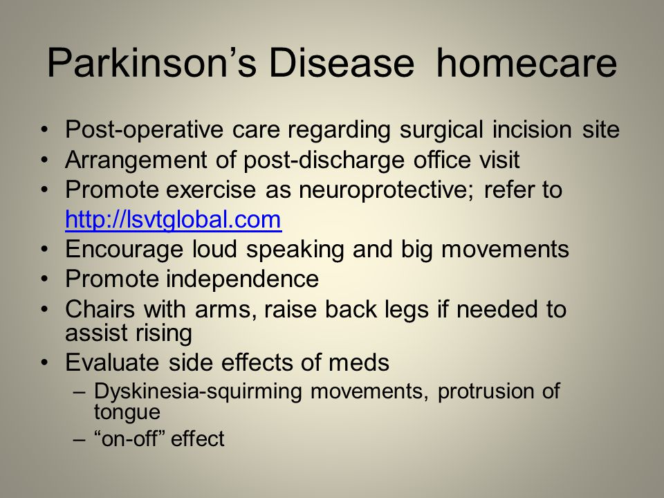 Parkinson's Disease homecare