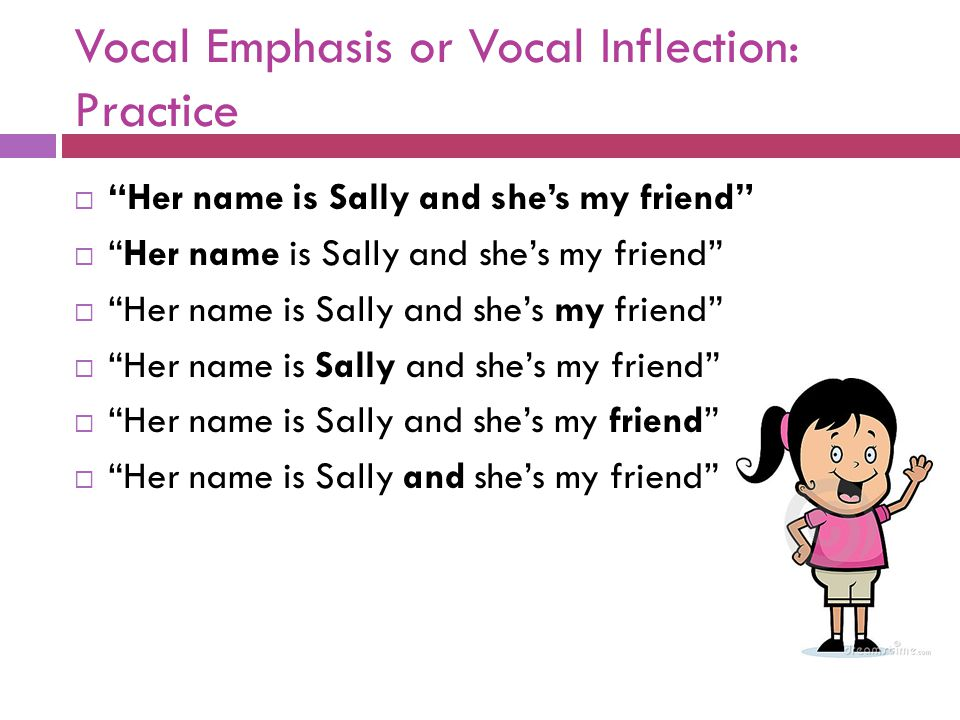 Vocal Emphasis or Vocal Inflection: Practice