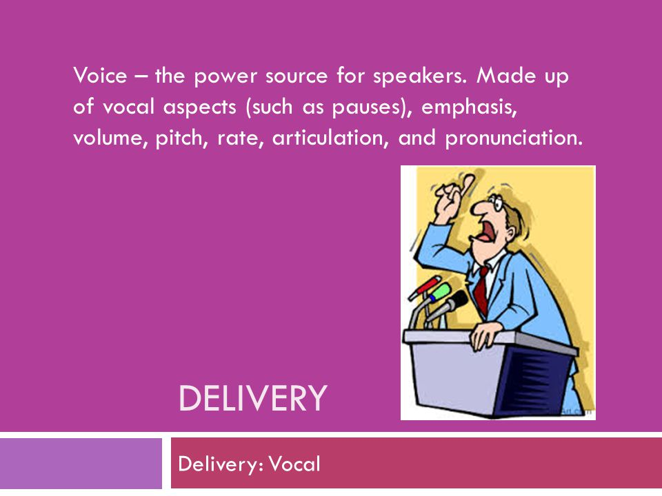 Voice – the power source for speakers