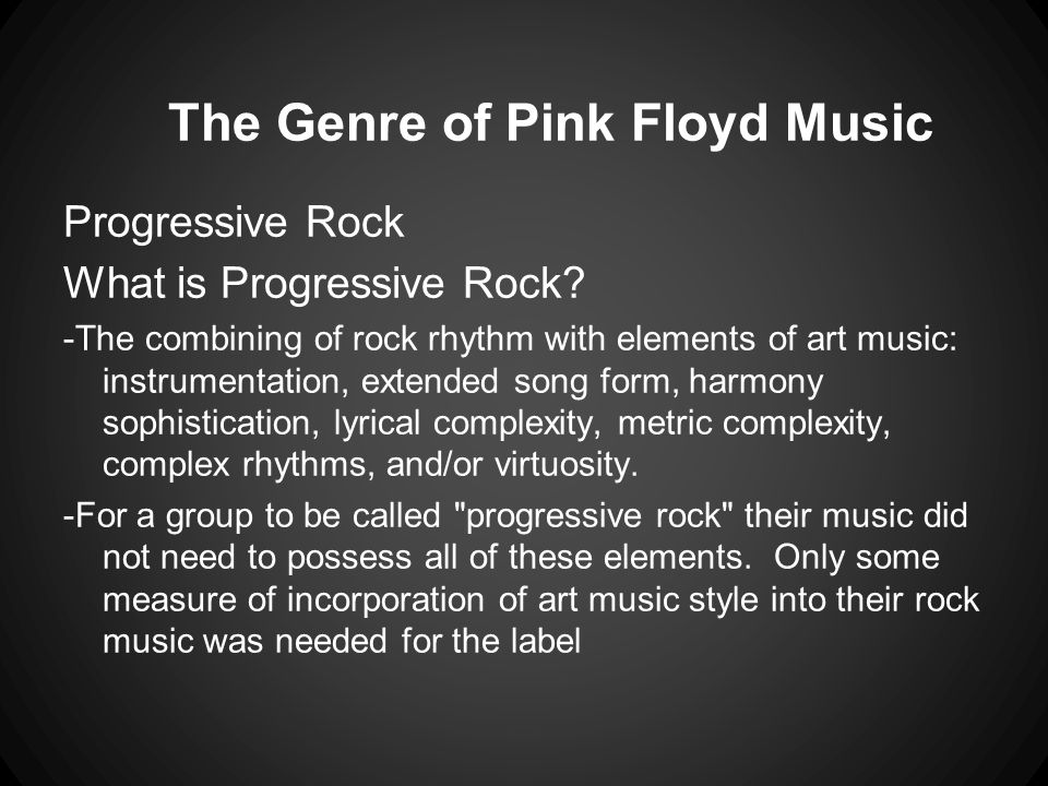 The Genre of Pink Floyd Music