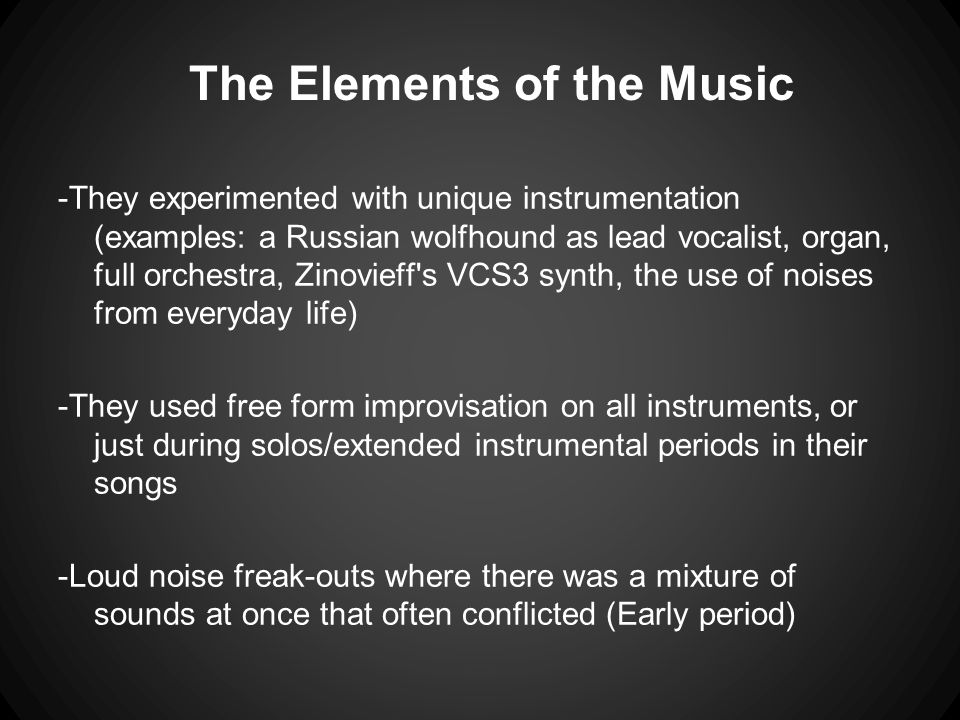 The Elements of the Music