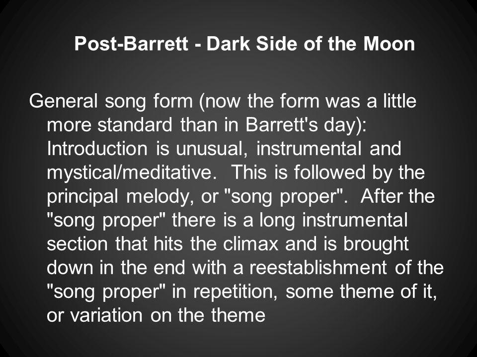 Post-Barrett - Dark Side of the Moon