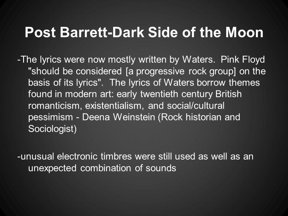 Post Barrett-Dark Side of the Moon