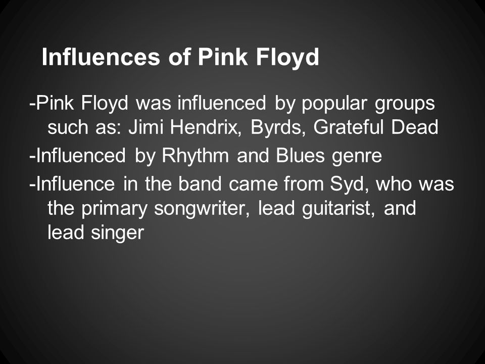 Influences of Pink Floyd