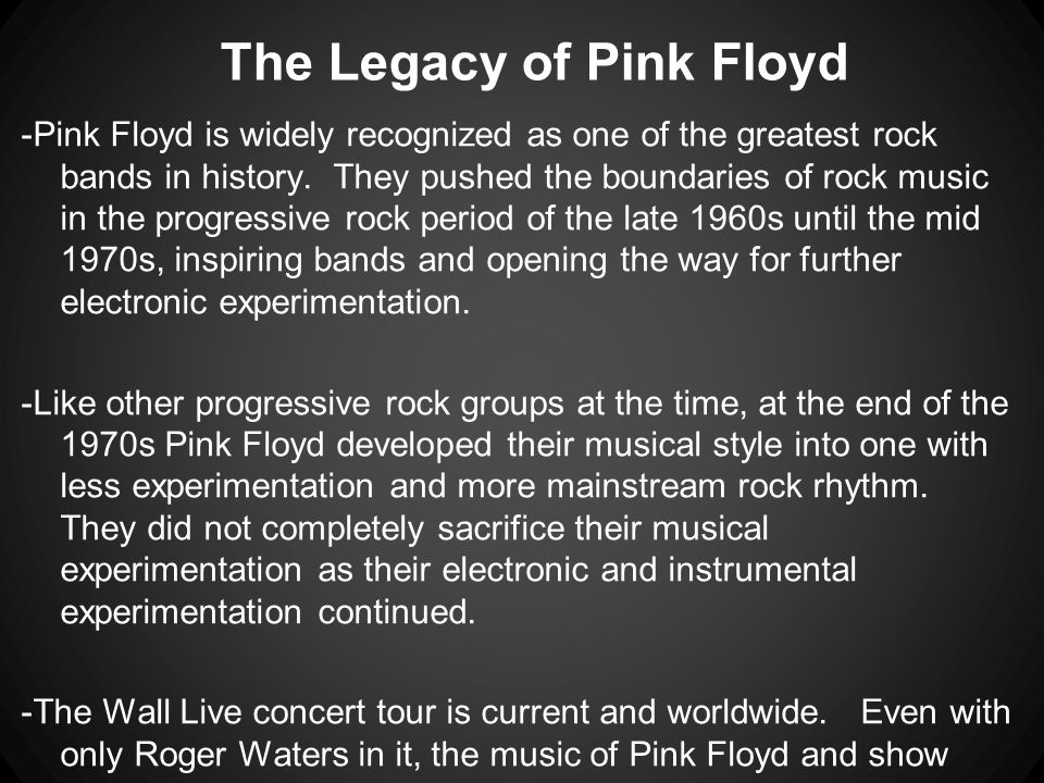 The Legacy of Pink Floyd