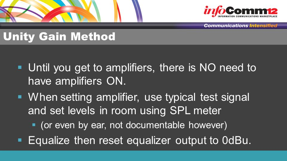 Until you get to amplifiers, there is NO need to have amplifiers ON.