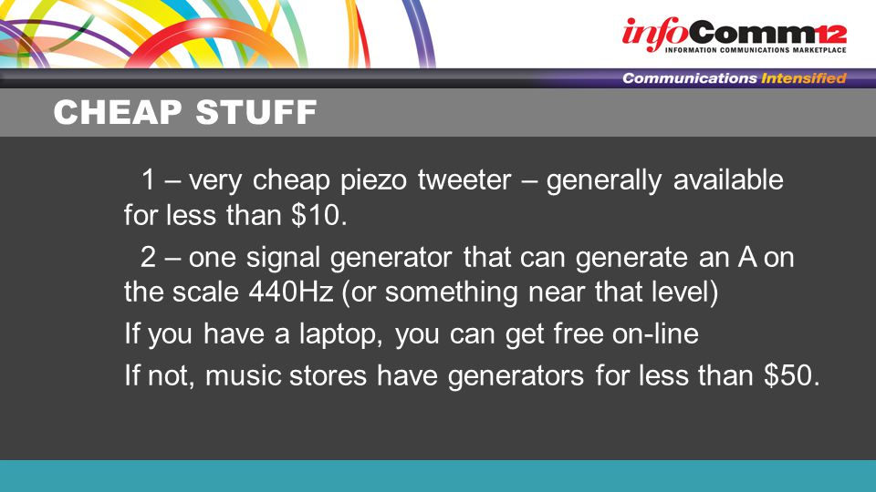 CHEAP STUFF 1 – very cheap piezo tweeter – generally available for less than $10.