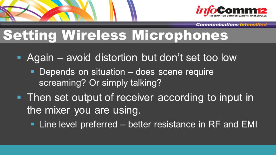 Setting Wireless Microphones