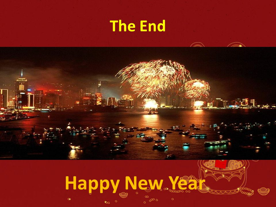 The End Happy New Year