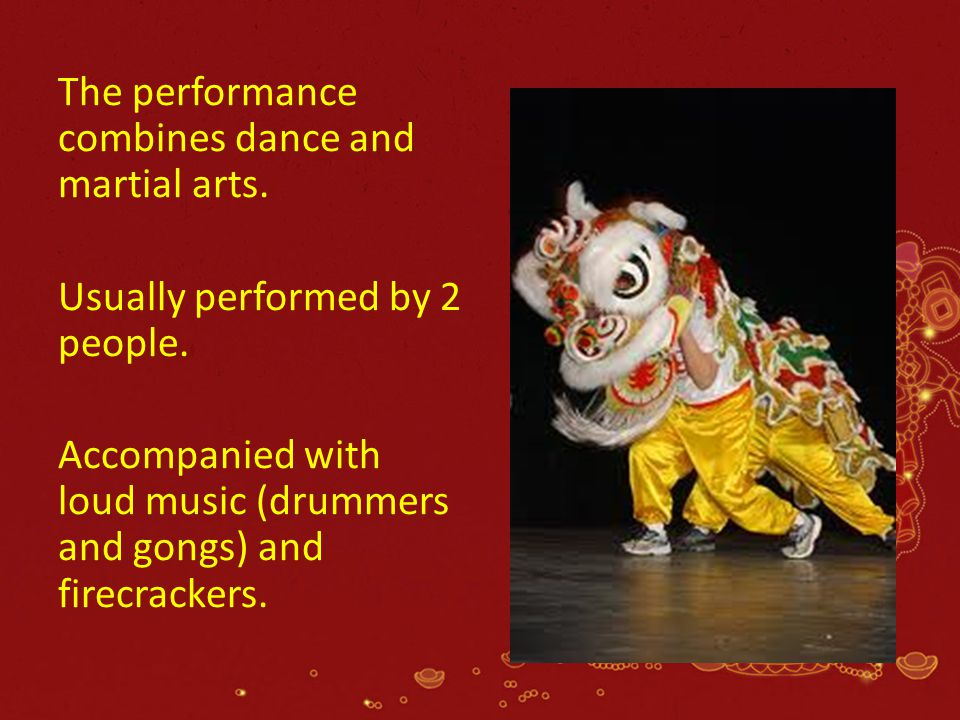 The performance combines dance and martial arts.
