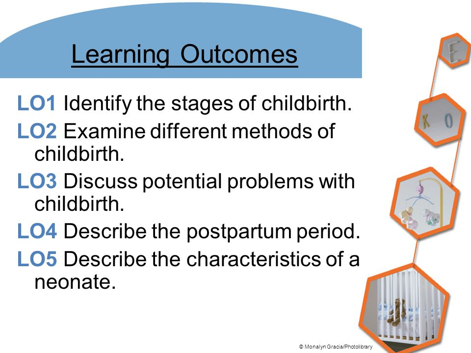 Learning Outcomes LO1 Identify the stages of childbirth.