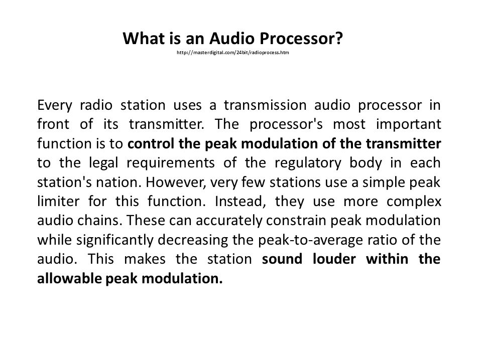 What is an Audio Processor
