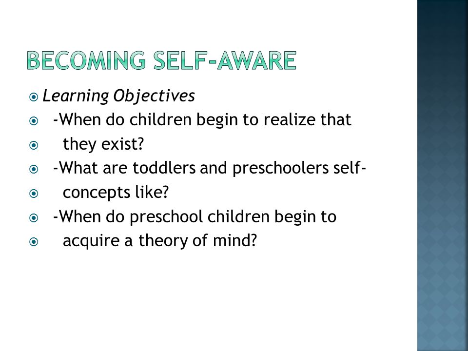 Becoming self-aware Learning Objectives