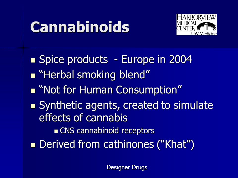 Cannabinoids Spice products - Europe in 2004 Herbal smoking blend