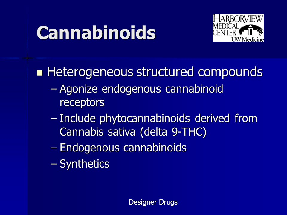 Cannabinoids Heterogeneous structured compounds