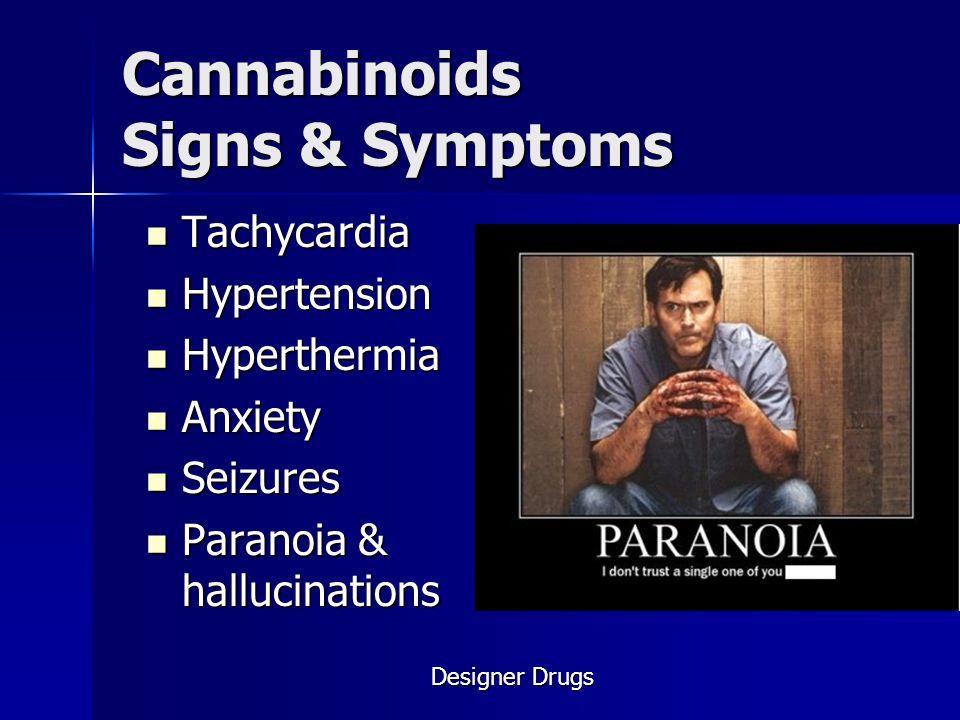 Cannabinoids Signs & Symptoms