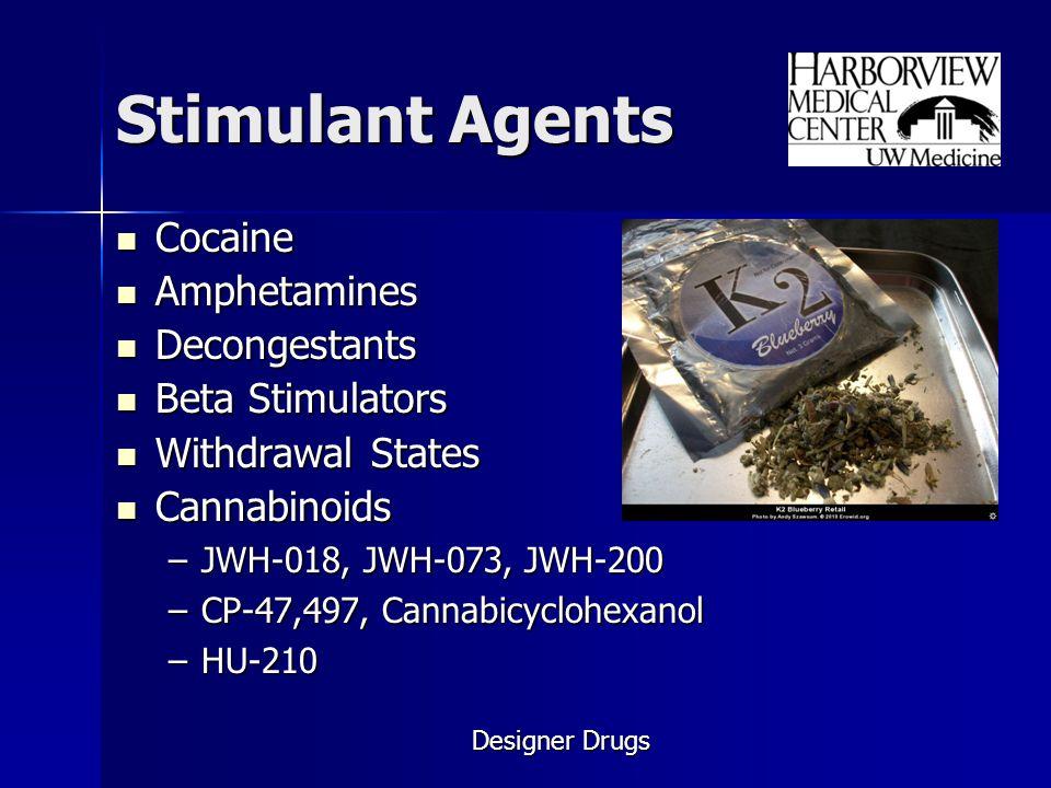 Stimulant Agents Cocaine Amphetamines Decongestants Beta Stimulators