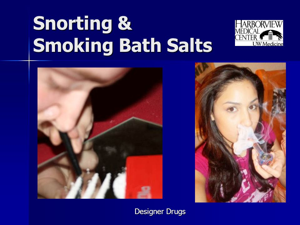 Snorting & Smoking Bath Salts