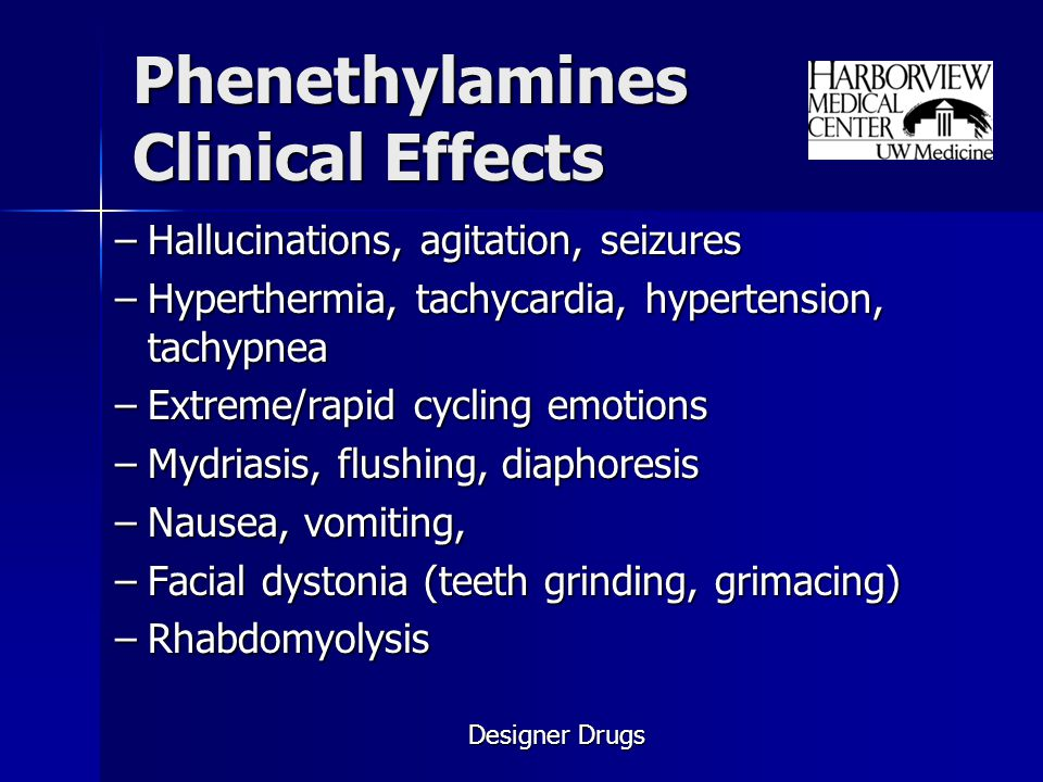 Phenethylamines Clinical Effects
