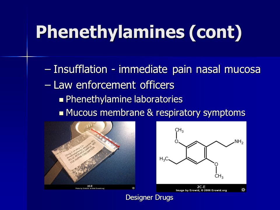 Phenethylamines (cont)