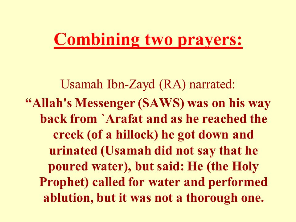 Combining two prayers:
