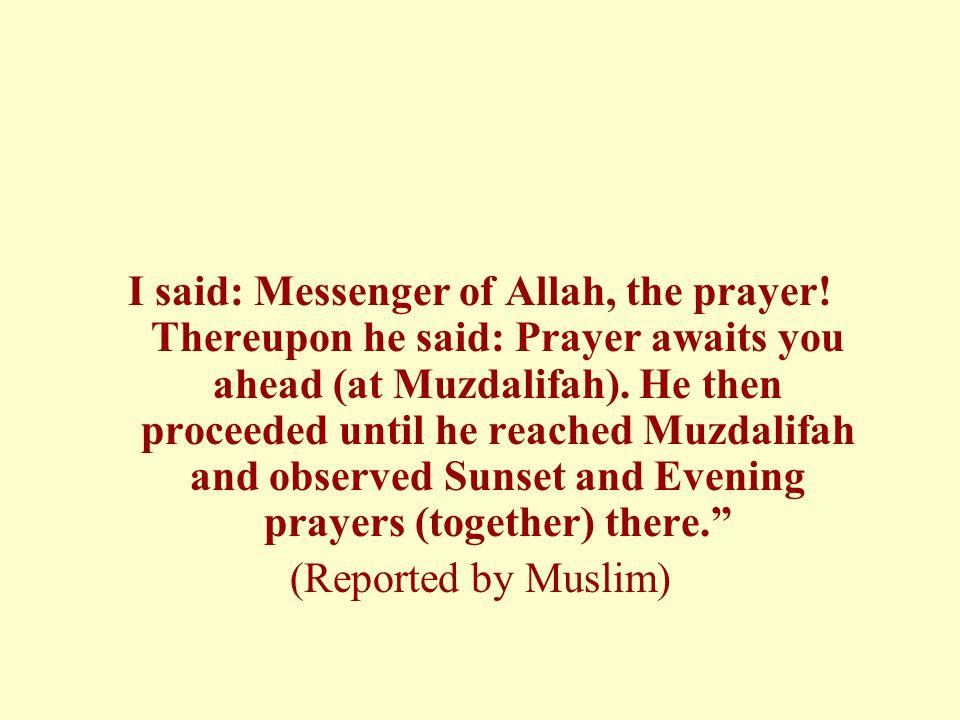 I said: Messenger of Allah, the prayer
