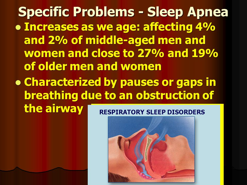 Specific Problems - Sleep Apnea