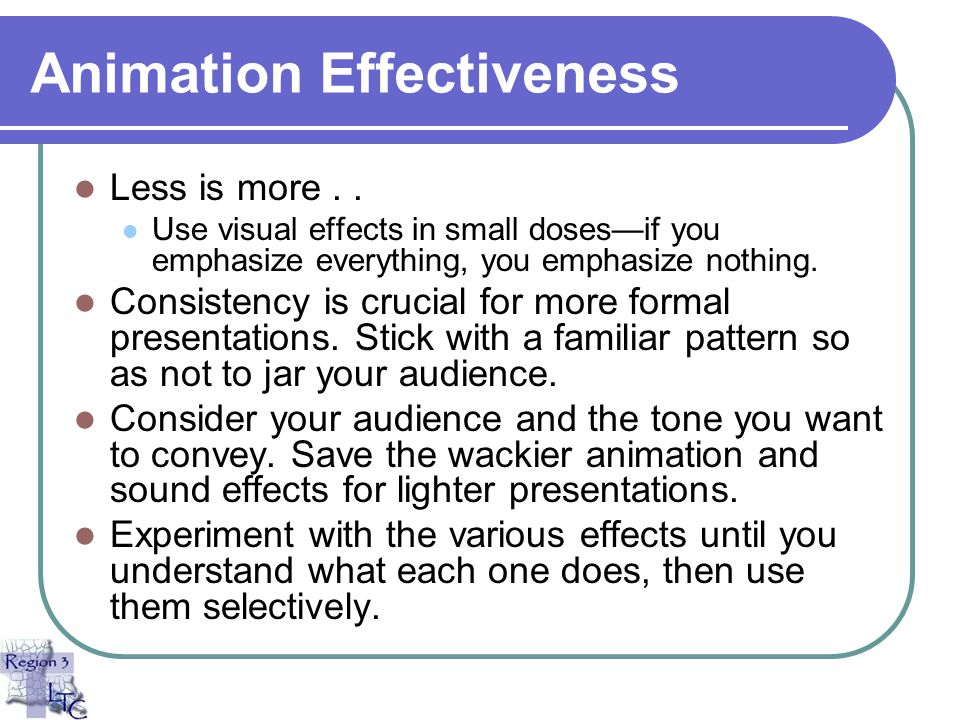 Animation Effectiveness