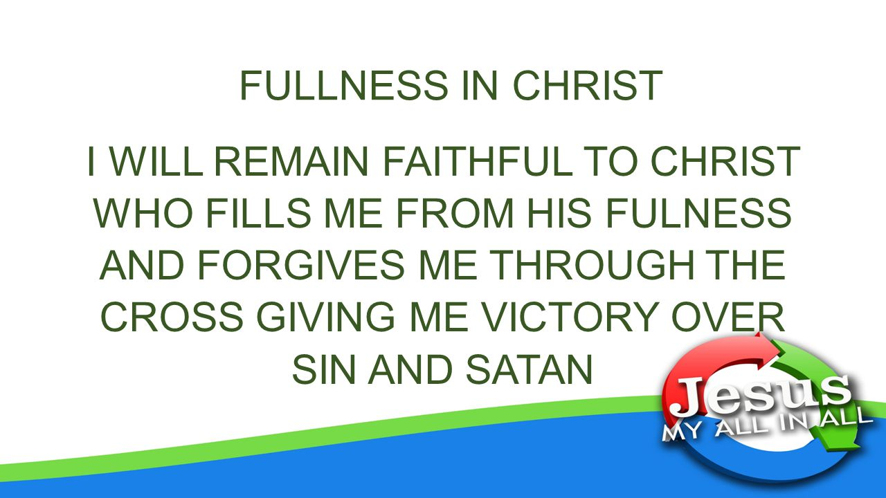FULLNESS IN CHRIST