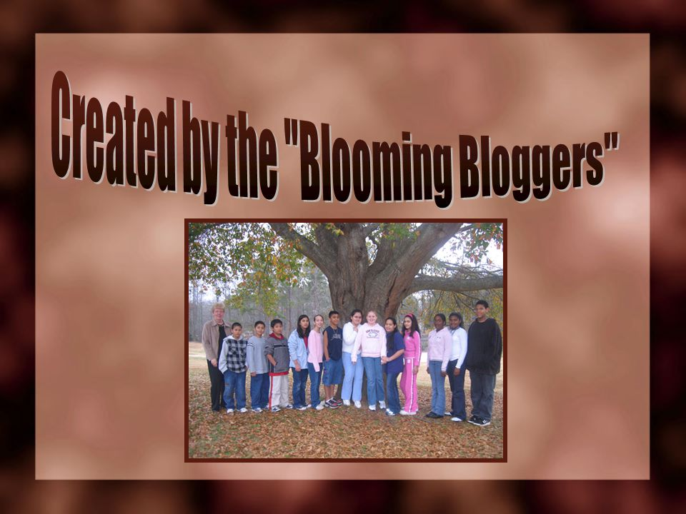 Created by the Blooming Bloggers