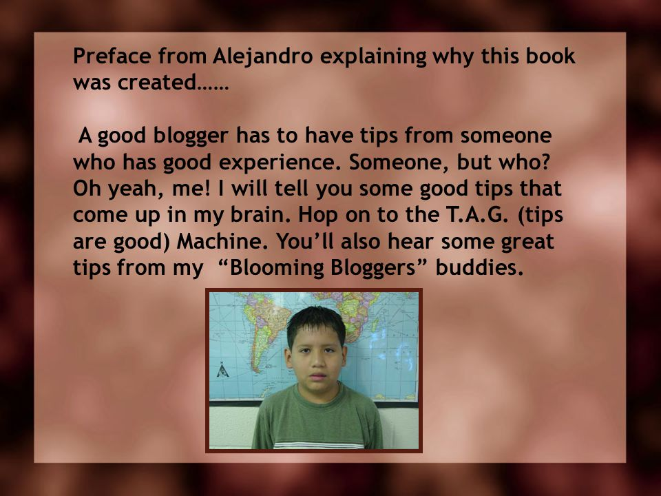 Preface from Alejandro explaining why this book was created……