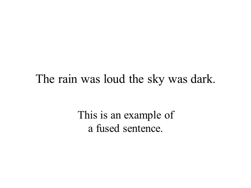 The rain was loud the sky was dark.