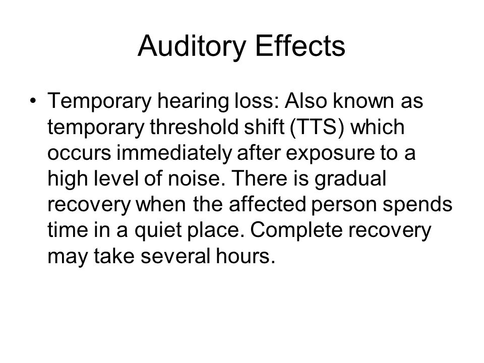 Auditory Effects